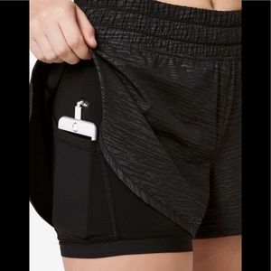 Lululemon shorts with spandex  tights underneath
